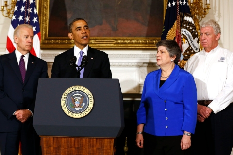 U.S. President Obama speaks about the devastating tornadoes and severe weather impacting Oklahoma, in Washington