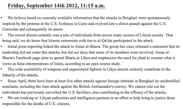 Benghazi TP 1