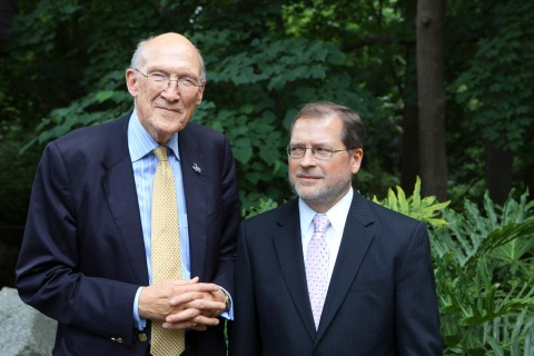 Alan Simpson and Grover Norquist at the National Zoo