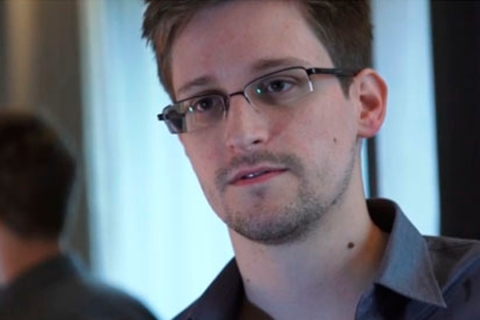 U.S. National Security Agency whistleblower Edward Snowden, an analyst with a U.S. defense contractor, in a still image taken from a video during an interview with the Guardian in his hotel room in Hong Kong, on June 6, 2013.