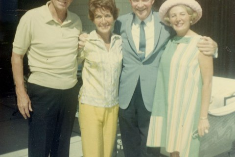 The Reagans with President Dwight Eisenhower and Leonore Annenberg. Circa 1967
