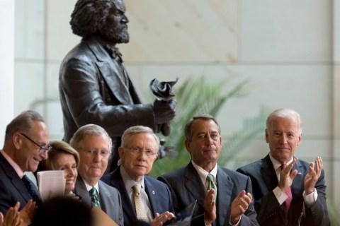 Charles Schumer, Nancy Pelosi, Mitch McConnell, Harry Reid, John Boehner, Joe Biden
