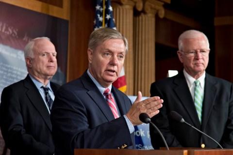 John McCain, Lindsey Graham, Saxby Chambliss