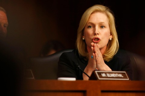 U.S. Sen. Kirsten Gillibrand at a Senate Armed Services Committee in Washington