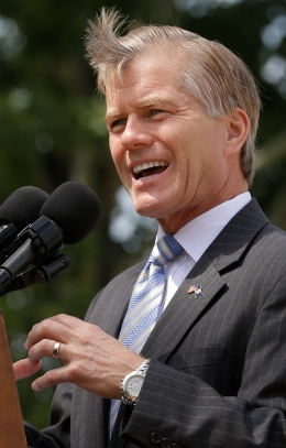 This Monday June 24, 2013 photo shows Virginia Gov. Bob McDonnell gestures during a press conference in Richmond, Va. (AP Photo/Steve Helber)