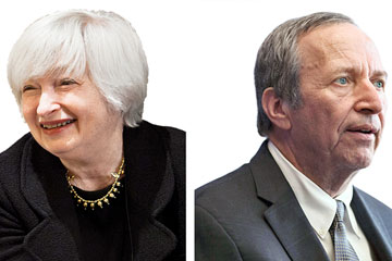 Janet Yellen and Larry Summers