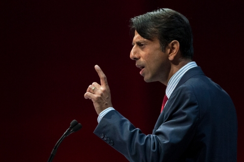 Louisiana Governor Bobby Jindal speaks at the NRA-ILA Leadership Forum at the George R. Brown Convention Center in Houston, on May 3, 2013.
