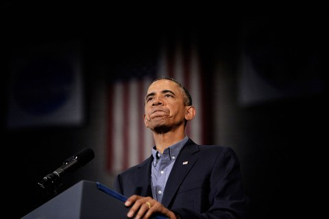 President Barack Obama speaks on education at University of Buffalo, the State University of New York, on August 22, 2013 in Buffalo, N.Y.