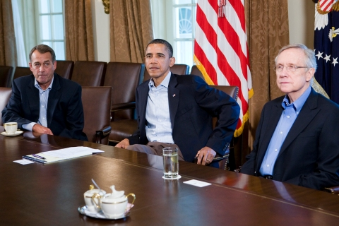 President Obama and House Speaker Boehner Meet For Debt Negotiations