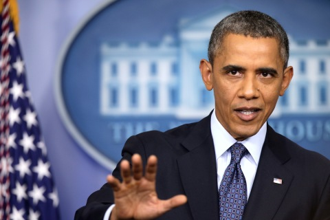 President Obama Speaks To The Media In Brady Press Briefing Room