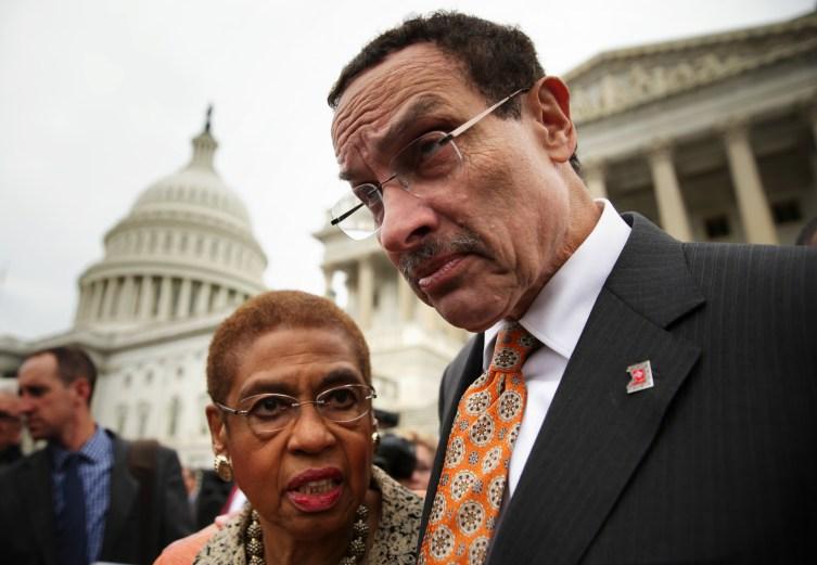 Del. Eleanor Holmes Norton and D.C. Mayor Vincent Gray