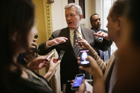 Senate Democrats Address The Press After Their Weekly Policy Luncheon