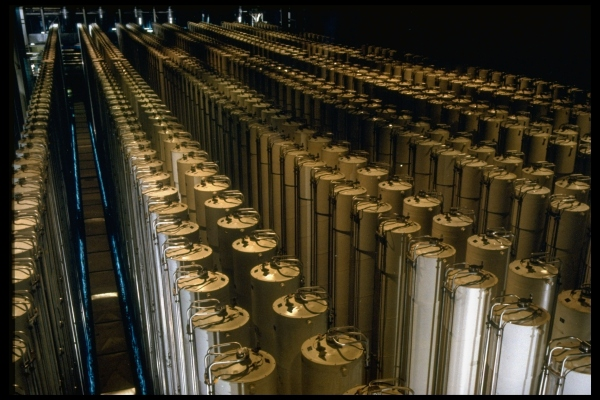 Rows of centrifuge units used in DOE pro
