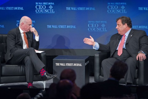 New Jersey Governor Chris Christie interviewed by Dow Jones Editor-in-Chief