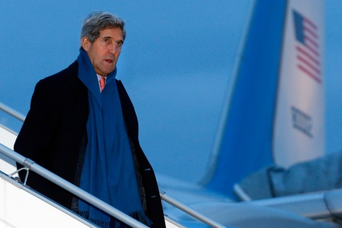 U.S. Secretary of State Kerry arrives at Geneva International airport