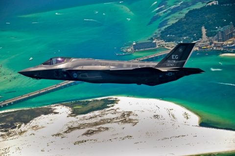 First F-35 flies in Eglin airspace