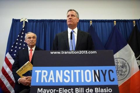 Bill De Blasio Announces William Bratton As City's Next Police Chief