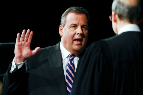 Chris Christie Sworn In For Second Term As Governor Of New Jersey