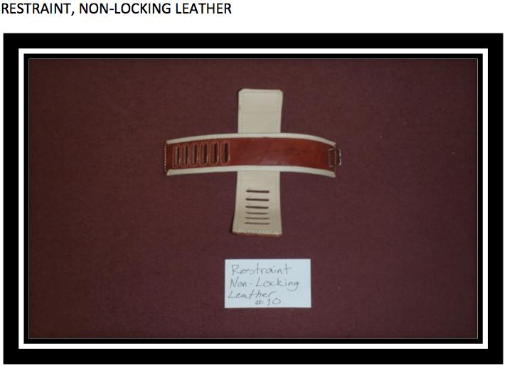 gtmo-restraint, nonlocking leather