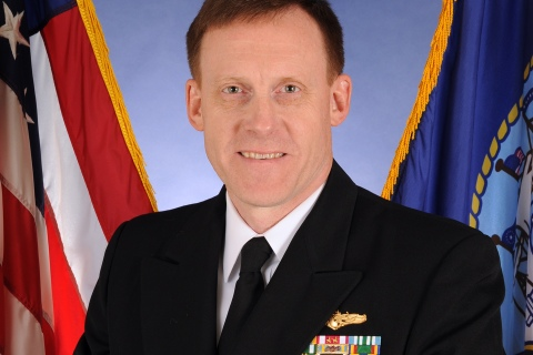 This Oct. 5, 2011, photo, provided by the U.S. Navy, shows Vice Adm. Michael Rogers. Defense Secretary Chuck Hagel is announcing that Rogers, the head of the Navy's Cyber Command, has been chosen to be the next chief of the NSA.